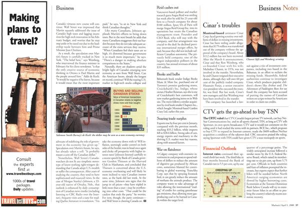 Article Preview: Business Notes, April 3,2000 2000 | Maclean's