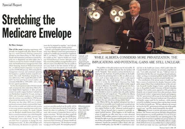 Article Preview: Stretching the Medicare Envelope, April 3,2000 2000 | Maclean's