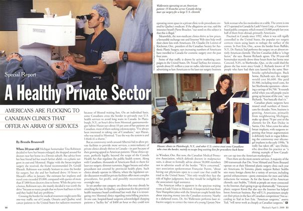 Article Preview: A Health Private Sector, April 3,2000 2000 | Maclean's