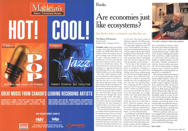 Article Preview: Are economies just like ecosystems?, April 3,2000 2000 | Maclean's