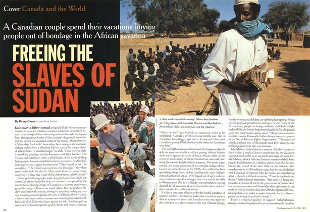 Article Preview: FREEING THE SLAVES OF SUDAN, April 2000 | Maclean's