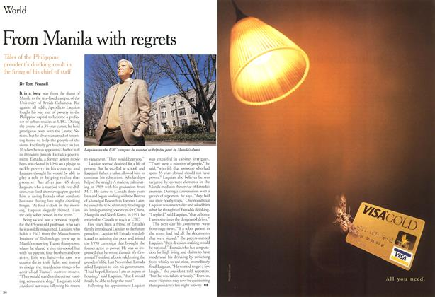 Article Preview: From Manila with regrets, April 2000 | Maclean's