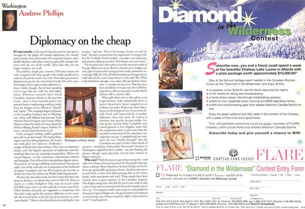Article Preview: Diplomacy on the cheap, April 2000 | Maclean's