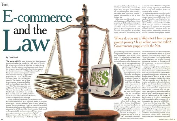 Article Preview: E-commerce and the Law, April 2000 | Maclean's