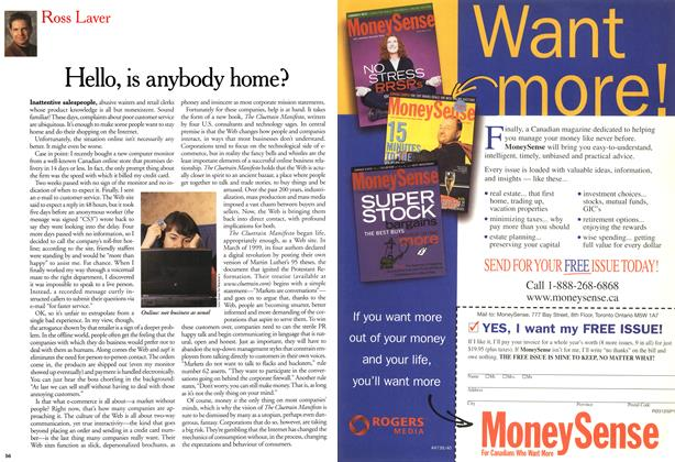 Article Preview: Hello, is anybody home?, April 2000 | Maclean's