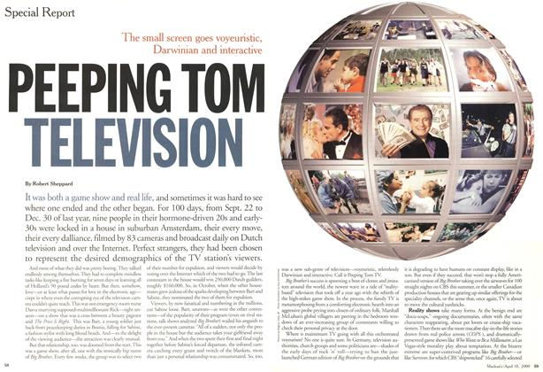 Article Preview: PEEPING TOM TELEVISION, April 2000 | Maclean's