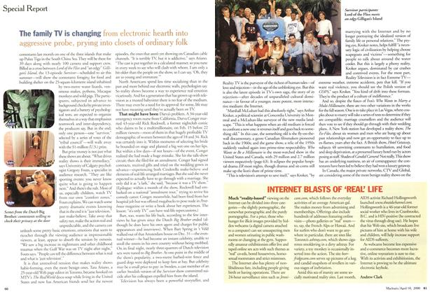 Article Preview: INTERNET BLASTS OF 'REAL LIFE, April 2000 | Maclean's