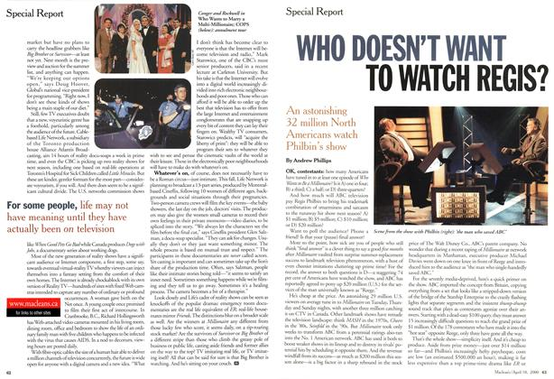 Article Preview: WHO DOESN'T WANT TO WATCH REGIS?, April 2000 | Maclean's