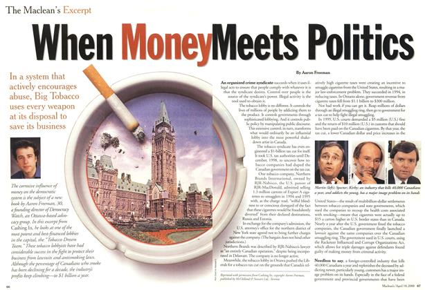 Article Preview: When Money Meets Politics, April 2000 | Maclean's