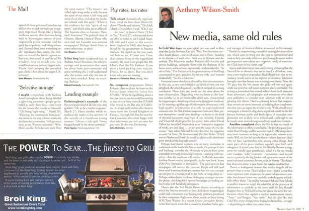 Article Preview: New media, same old rules, April 2000 | Maclean's