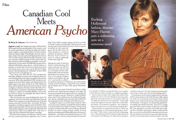 Article Preview: Canadian Cool Meets American Psycho, April 2000 | Maclean's
