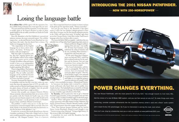 Article Preview: Losing the language battle, April 2000 | Maclean's