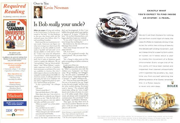 Article Preview: Is Bob really your uncle?, April 2000 | Maclean's