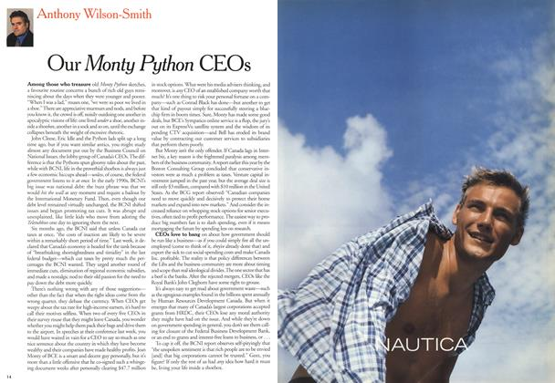 Article Preview: Our Monty Python CEOs, April 2000 | Maclean's
