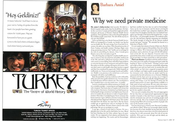 Article Preview: Why we need private medicine, April 2000 | Maclean's