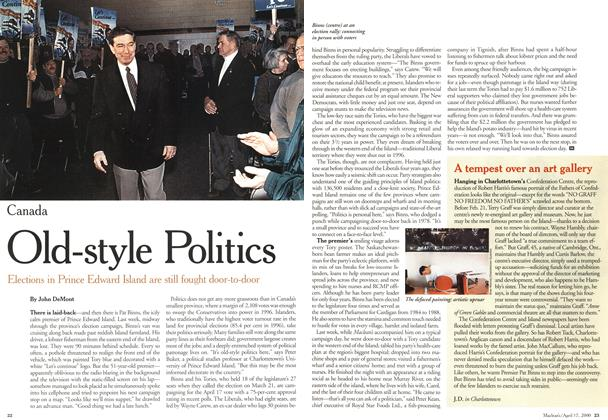 Article Preview: A tempest over an art gallery, April 2000 | Maclean's