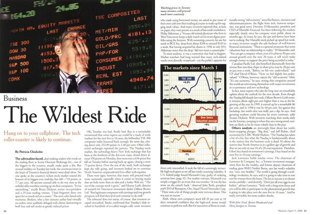 Article Preview: The Wildest Ride, April 2000 | Maclean's