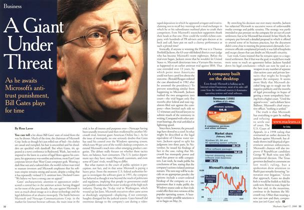 Article Preview: A Giant Under Threat, April 2000 | Maclean's