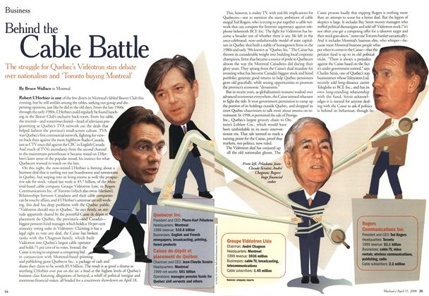 Article Preview: Behind the Cable Battle, April 2000 | Maclean's