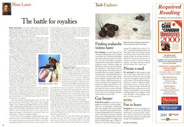 Article Preview: The battle for royalties, April 2000 | Maclean's