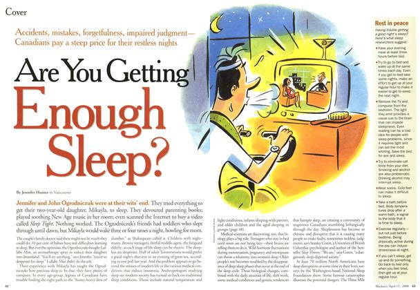 Article Preview: Are You Getting Enough Sleep?, April 2000 | Maclean's