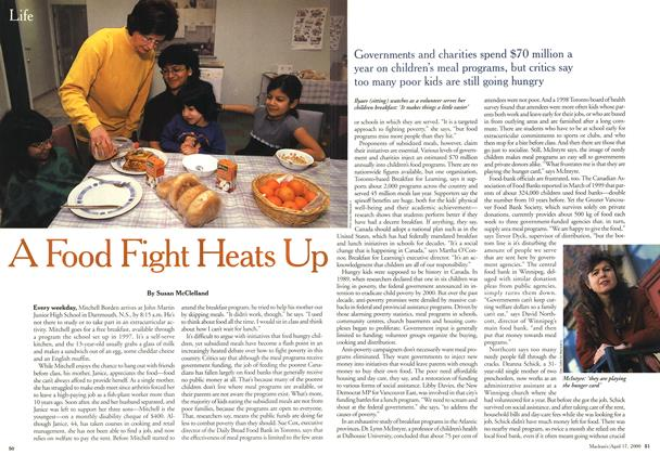 Article Preview: A Food Fight Heats Up, April 2000 | Maclean's
