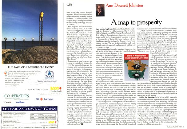 Article Preview: A map to prosperity, April 2000 | Maclean's