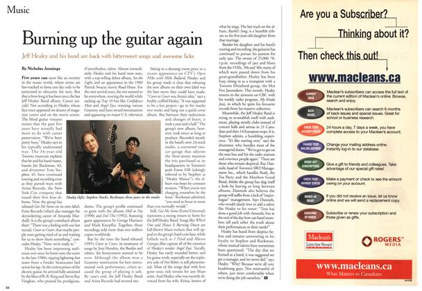 Article Preview: Burning up the guitar again, April 2000 | Maclean's