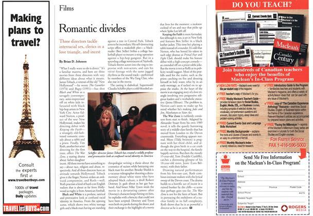 Article Preview: Romantic divides, April 2000 | Maclean's