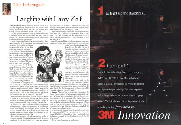 Article Preview: Laughing with Larry Zolf, April 2000 | Maclean's