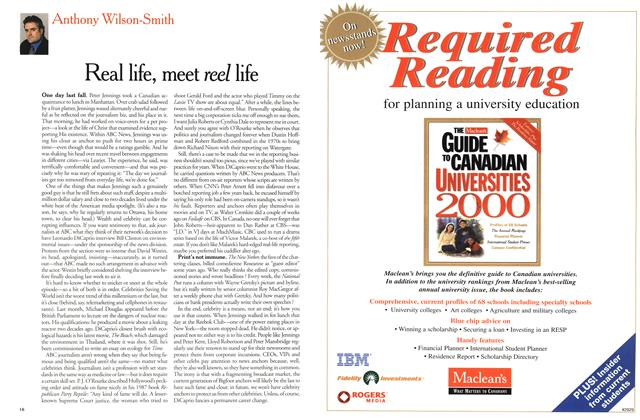 Article Preview: Real life, meet reel life, April 2000 | Maclean's