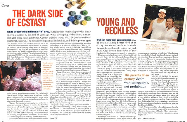 Article Preview: THE DARK SIDE OF ECSTASY, April 2000 | Maclean's