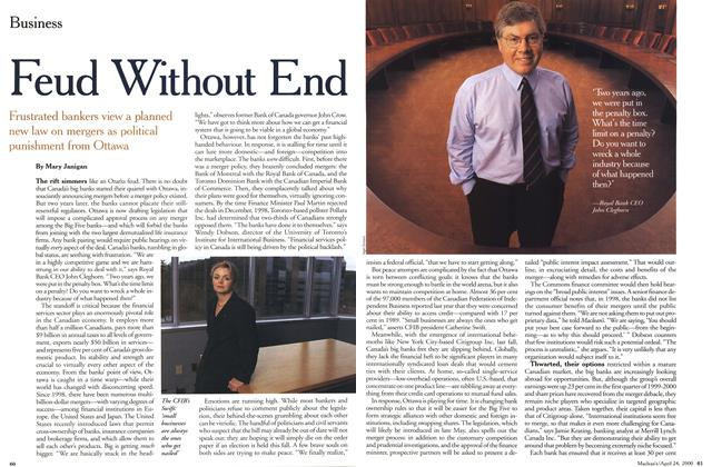 Article Preview: Feud Without End, April 2000 | Maclean's