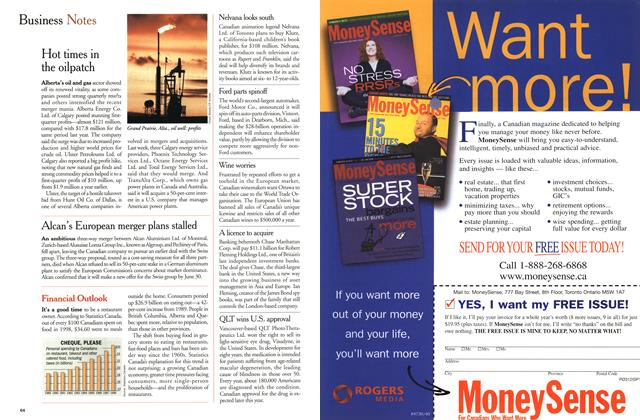 Article Preview: Business Notes, April 2000 | Maclean's