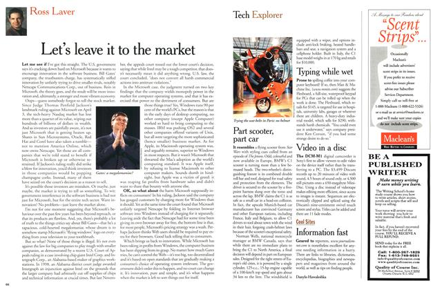 Article Preview: Let's leave it to the market, April 2000 | Maclean's