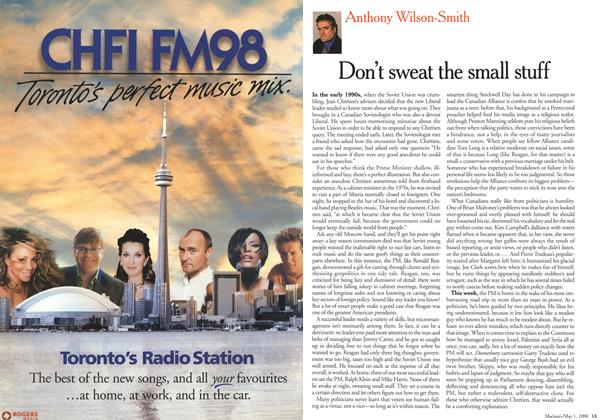 Article Preview: Don't sweat the small stuff, May 2000 | Maclean's
