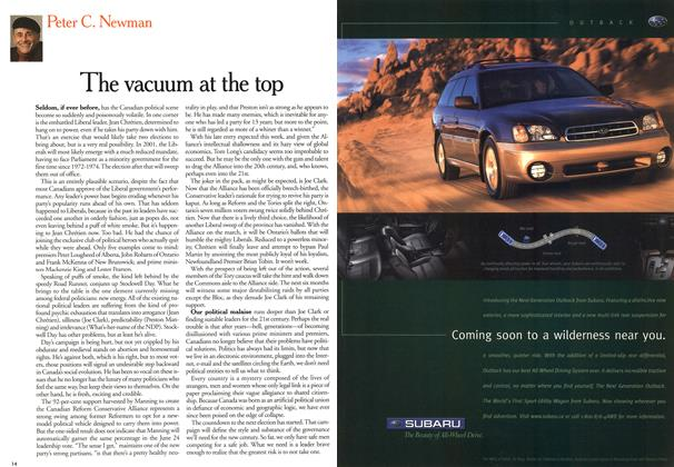 Article Preview: The vacuum at the top, May 2000 | Maclean's
