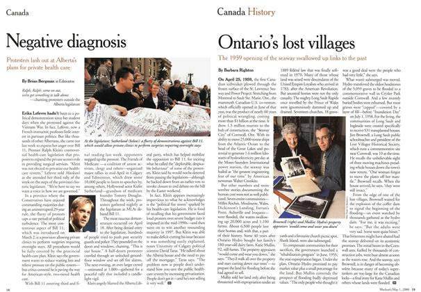 Article Preview: Ontario's lost villages, May 2000 | Maclean's
