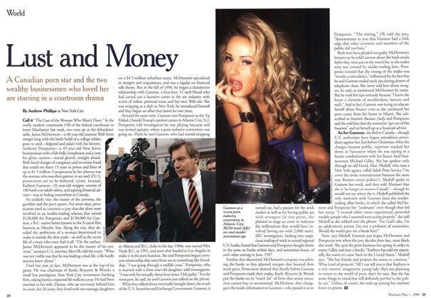 Article Preview: Lust and Money, May 2000 | Maclean's