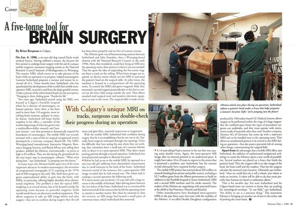 Article Preview: A five-tonne tool for BRAIN SURGERY, May 2000 | Maclean's