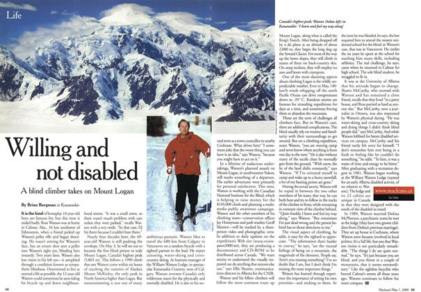 Article Preview: Willing and not disabled, May 2000 | Maclean's