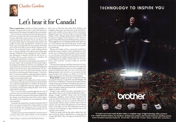 Article Preview: Let's hear it for Canada!, May 2000 | Maclean's