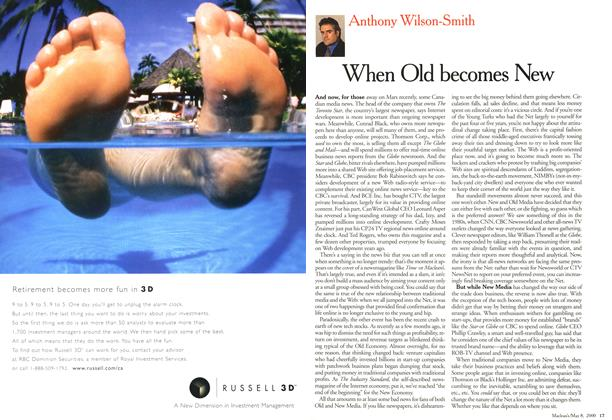 Article Preview: When Old becomes New, May 2000 | Maclean's
