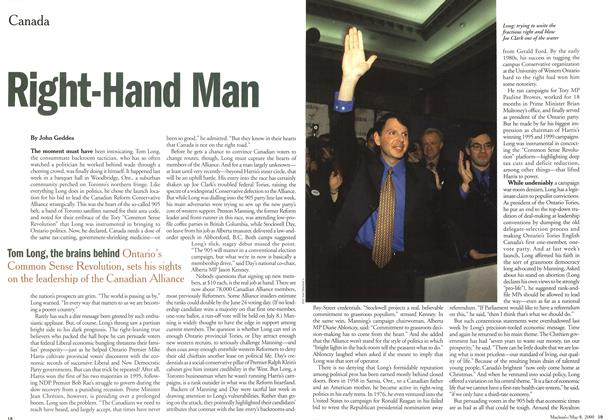 Article Preview: Right-Hand Man, May 2000 | Maclean's