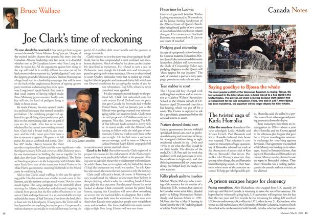 Article Preview: Joe Clark's time of reckoning, May 2000 | Maclean's