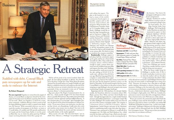 Article Preview: A Strategic Retreat, May 2000 | Maclean's