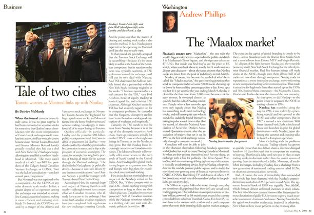 Article Preview: Tale of two cities, May 2000 | Maclean's