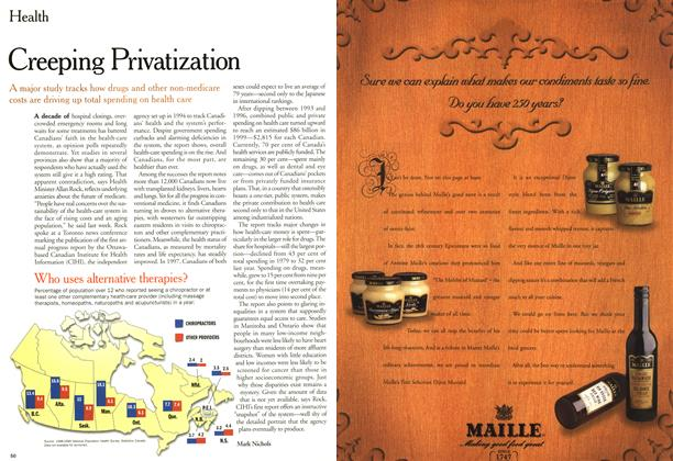 Article Preview: Creeping Privatization, May 2000 | Maclean's