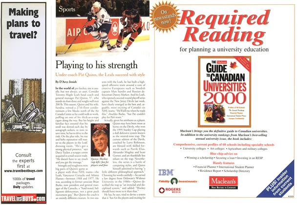 Article Preview: Playing to his strength, May 2000 | Maclean's