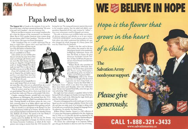 Article Preview: Papa loved us, too, May 2000 | Maclean's